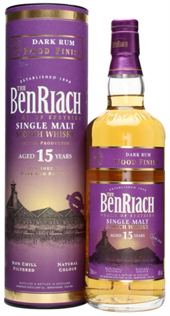 Benriach Scotch Single Malt 15 Year Dark Rum Wood Finish